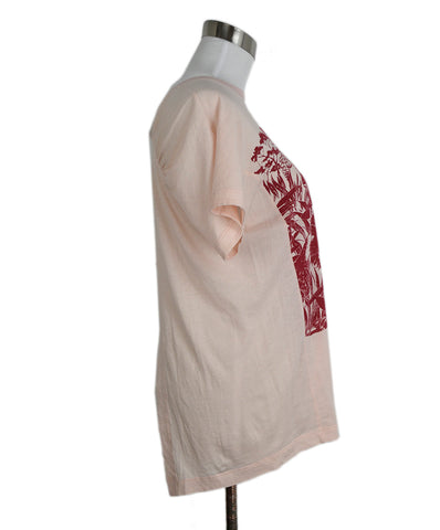 Stella McCartney Pink Red Cotton T-Shirt 1