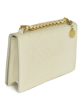 Stella McCartney White Ivory Embossed Leather Satchel Grace Handbag | Stella McCartney