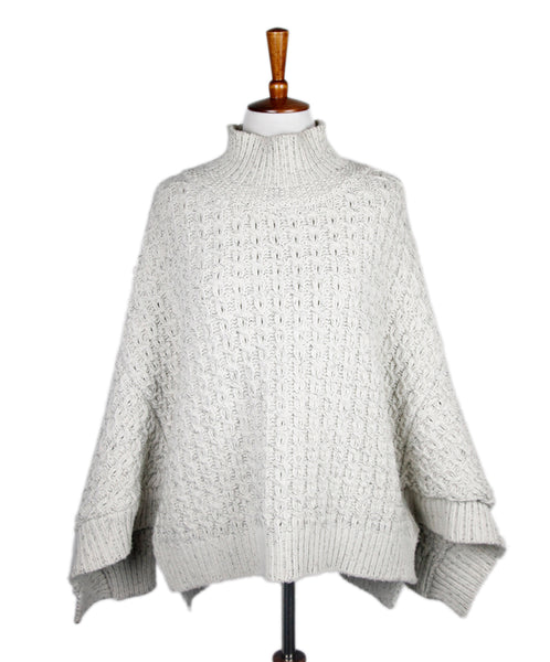 Stella Mccartney Size 10 Neutral Cream Black Wool Sweater
