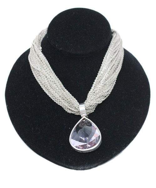Stephen Dweck Sterling Silver Necklace with Lilac Amethyst Pendant 1