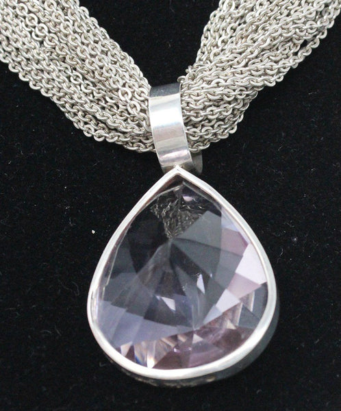 Stephen Dweck Sterling Silver Necklace with Lilac Amethyst Pendant 4