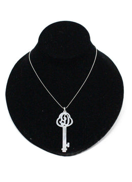 Key Pendant Sterling Silver Necklace