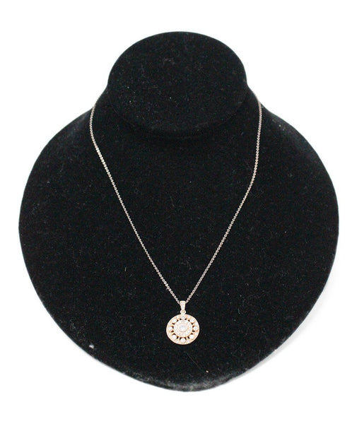 Sterling Silver Vermeil Cubic Zirconia Necklace