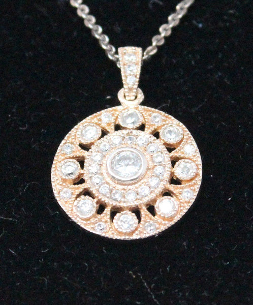 Sterling Silver Vermeil Cubic Zirconia Necklace 2