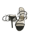 Stuart Weitzman Black and Gold Sandals 3