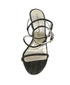 Stuart Weitzman Black and Gold Sandals 1