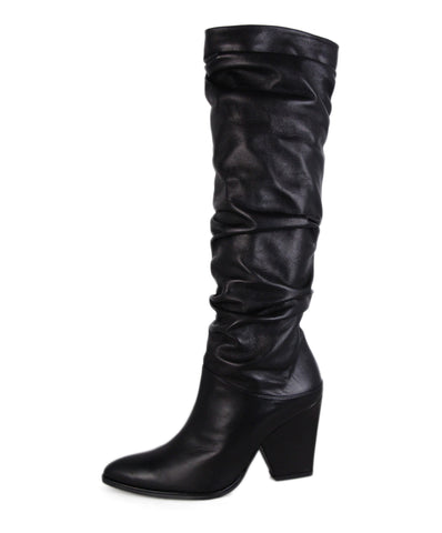 Stuart Weitzman Black Leather Boots 1