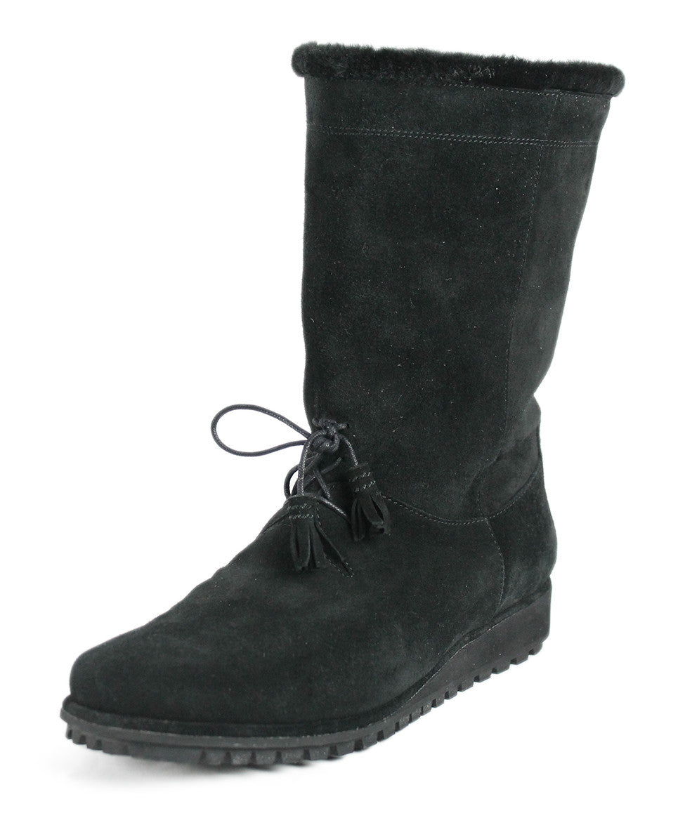 Stuart Weitzman US 10 Black Shearling Boots - Michael's Consignment NYC  - 1