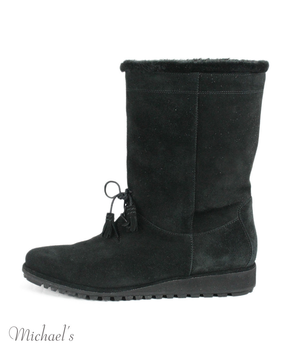 Stuart Weitzman US 10 Black Shearling Boots - Michael's Consignment NYC  - 2