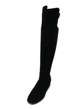 Stuart Weitzman Black Suede Knee High Boots 1