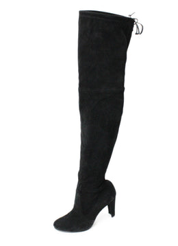 Stuart Weitzman Black Suede Over the Knee Boots 1