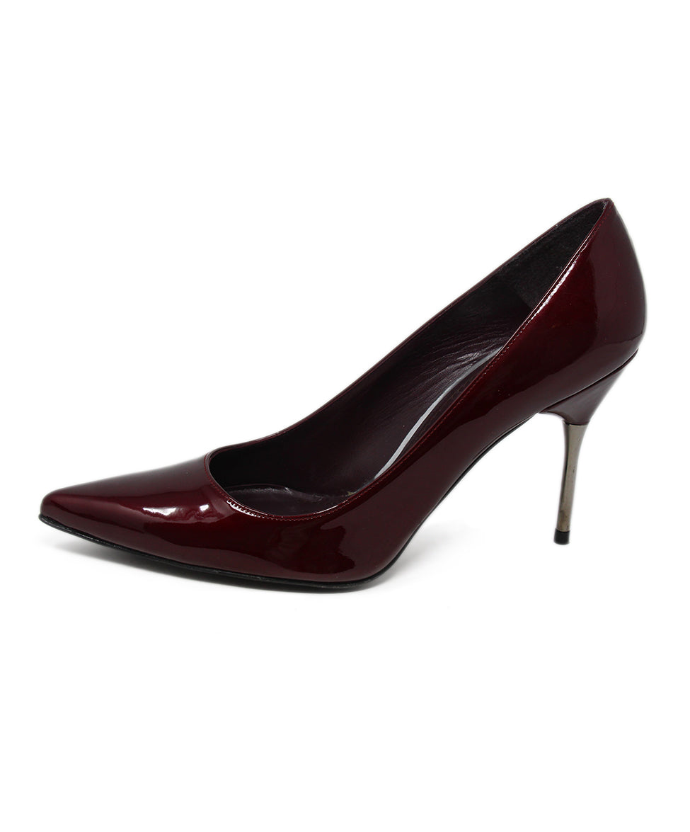 Stuart Weitzman Burgundy Patent Leather Heels 2