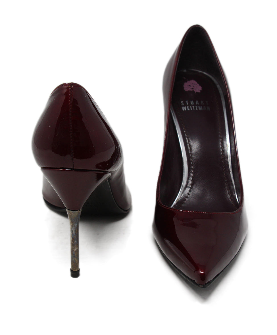 Stuart Weitzman Burgundy Patent Leather Heels 3