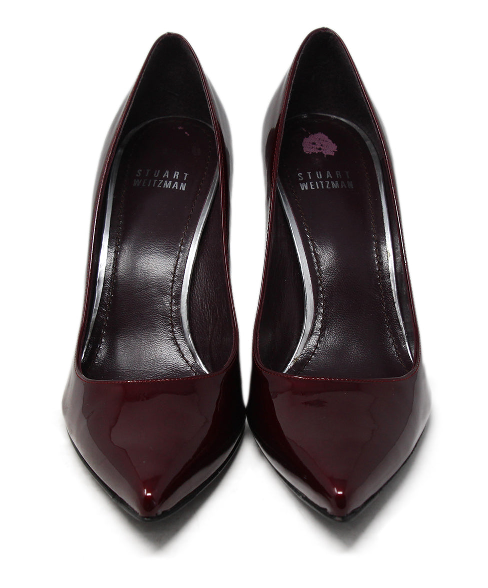 Stuart Weitzman Burgundy Patent Leather Heels 4