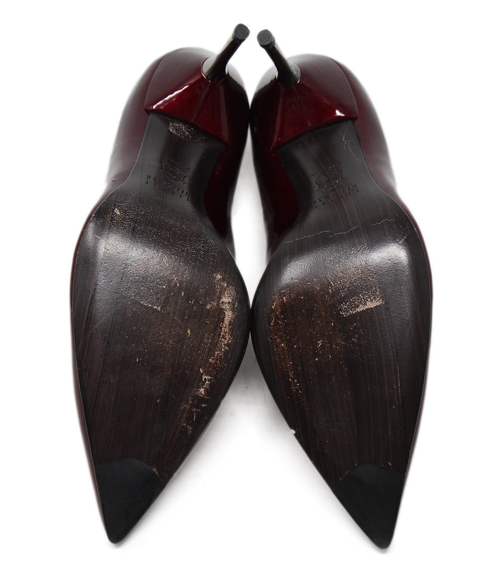 Stuart Weitzman Burgundy Patent Leather Heels 5