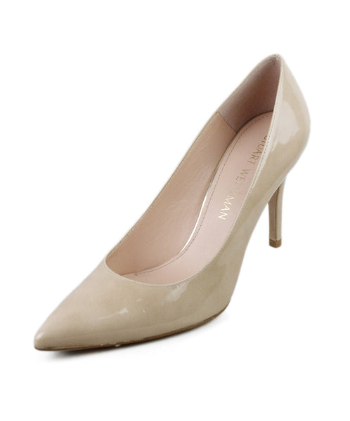 Stuart Weitzman Nude Patent Leather Shoes Sz 37