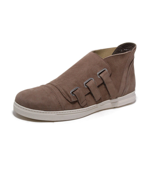 Stuart Weitzman Neutral Taupe Suede Sneakers 1