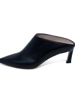 Stuart Weitzman Black Leather Heels 2