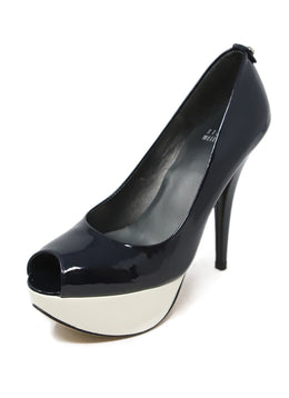 Stuart Weitzman Black and White Patent Leather Pump Heels 1