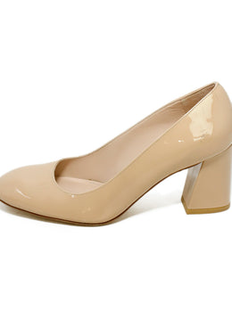 Stuart Weitzman Neutral Nude Patent Leather Heels 2