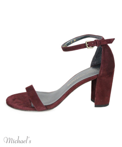 Stuart Weitzman Burgundy Suede Shoes Sz 36