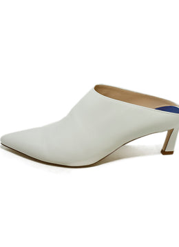 Stuart Weitzman White Leather Shoes 2