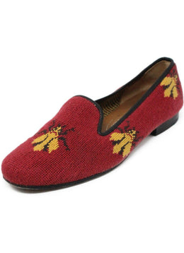Stubbs & Wootton Red Yellow Needlepoint Shoes