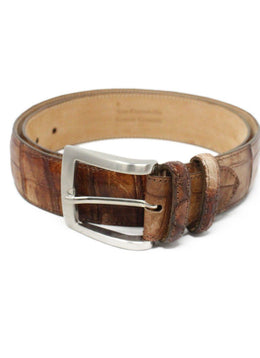 Suarez Brown Crocodile Belt 1