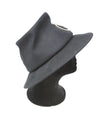 Suzanne Black Felt Hat with Gold Detail 2