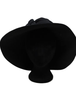 Suzanne Black Satin Hat