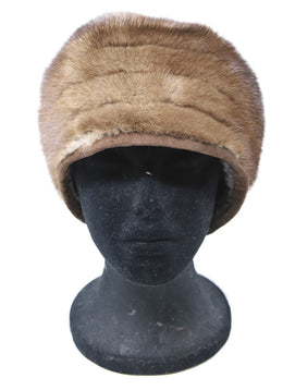 Suzanne brown Mink Fur Hat 1