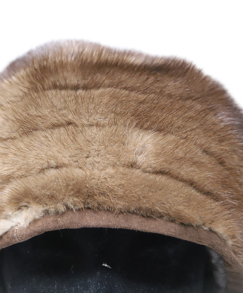 Suzanne brown Mink Fur Hat 6