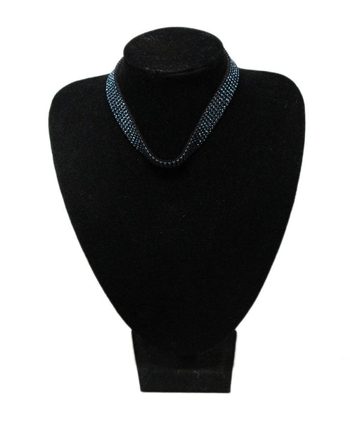 Swarovski Blue Crystal Chocker Necklace 1