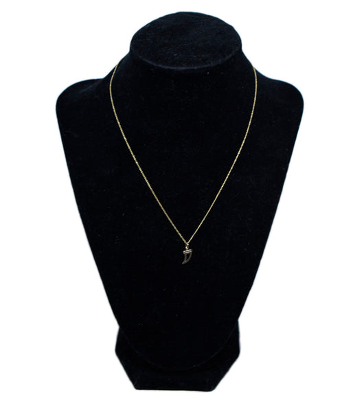 Sydney Evan 14 K Gold Black Diamond Necklace 1
