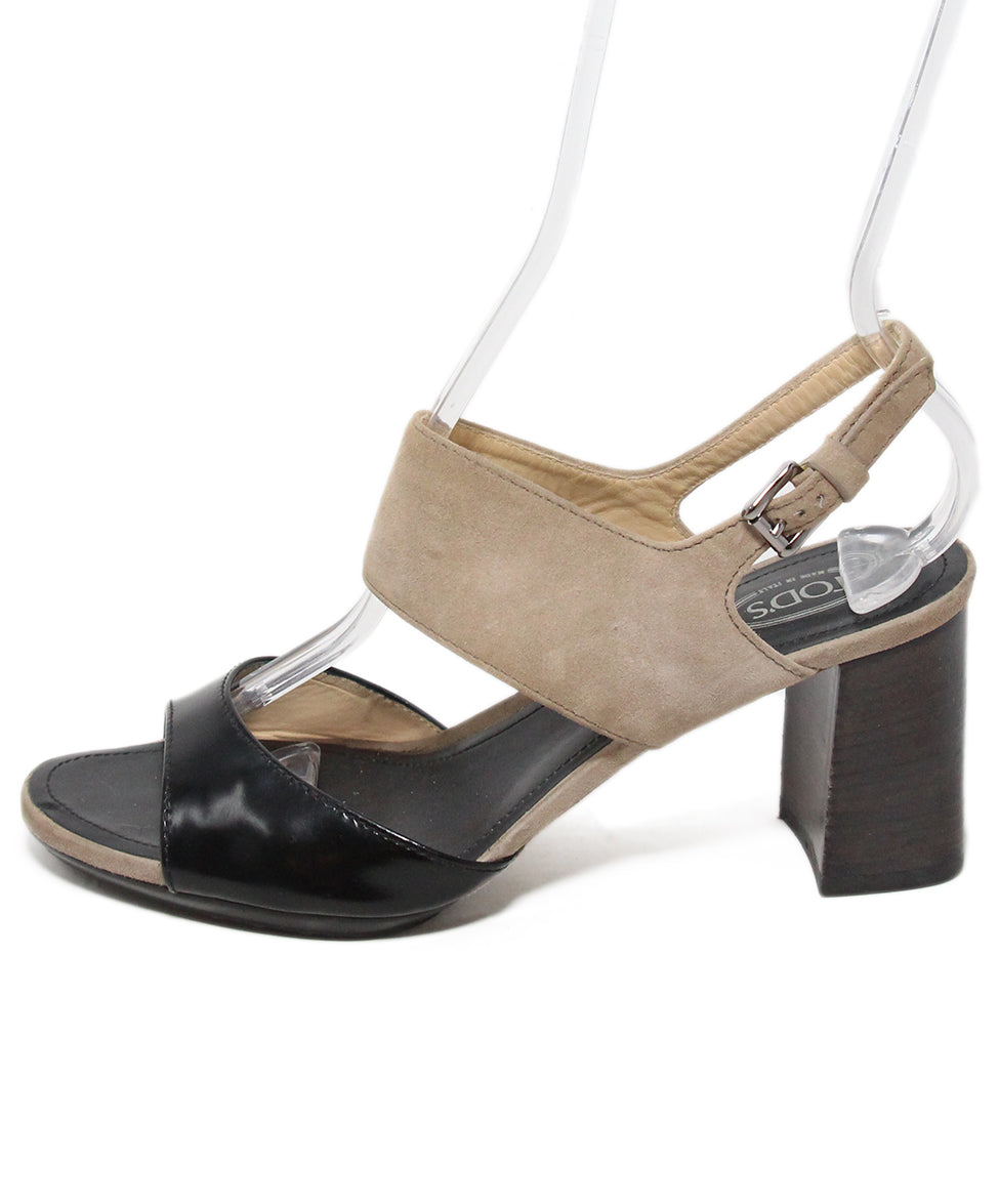 TOD's black taupe shoes 2