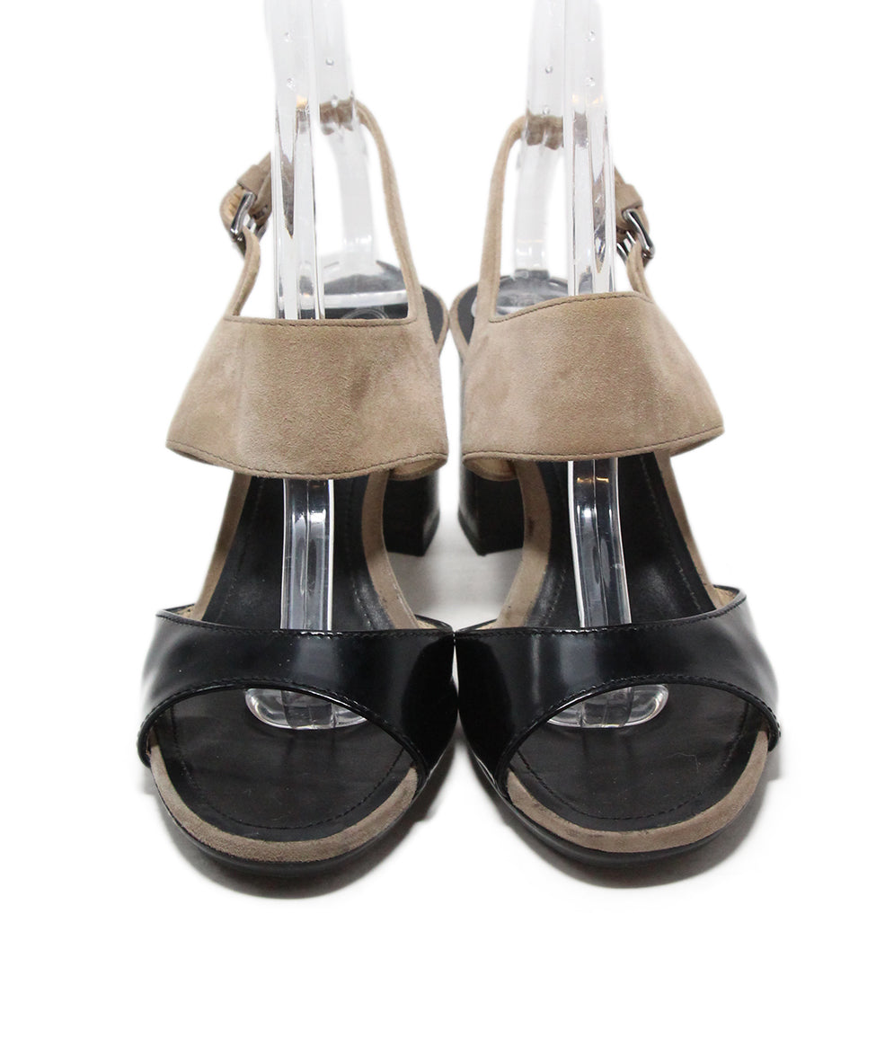 TOD's black taupe shoes 4