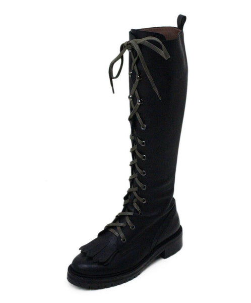 Tabitha Simmons Markie Black Leather Laceup Boots