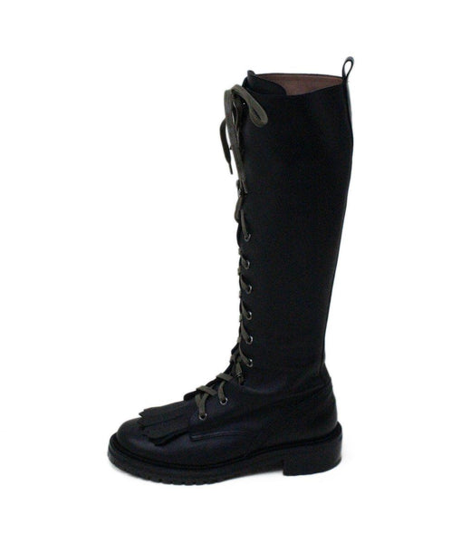 Tabitha Simmons Markie Black Leather Laceup Boots 1