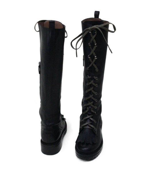 Tabitha Simmons Markie Black Leather Laceup Boots 2