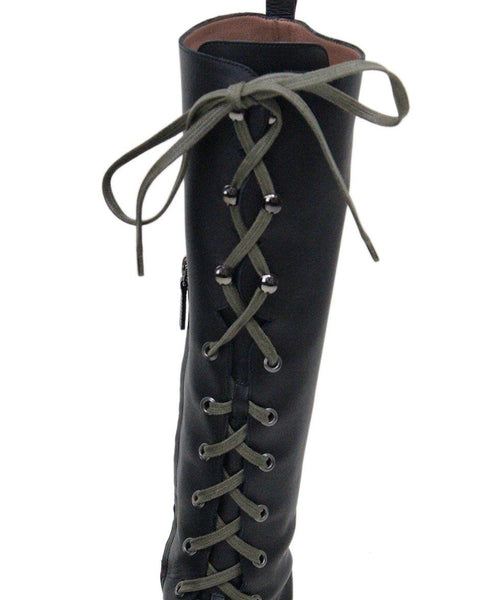 Tabitha Simmons Markie Black Leather Laceup Boots 5