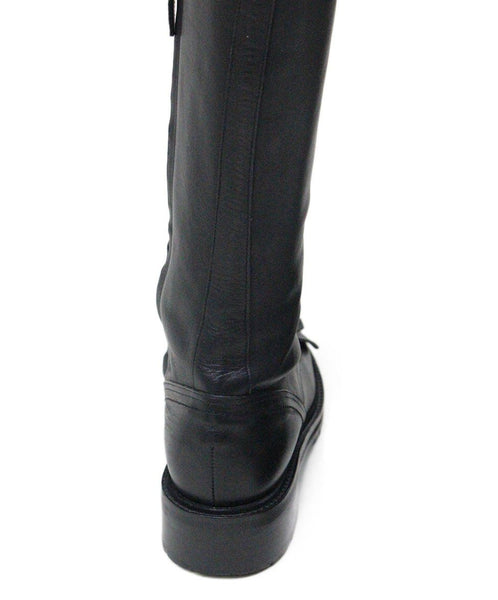Tabitha Simmons Markie Black Leather Laceup Boots 6