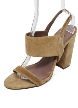 Tabitha Simmons Tan Suede Sandals 1