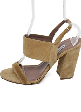 Tabitha Simmons Tan Suede Sandals 2