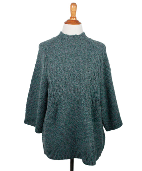 Elie Tahari Teal Wool Sweater Sz 6