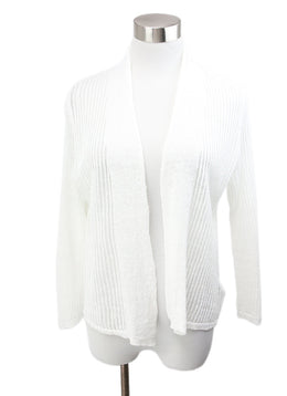 Tahari White Linen Sweater 1