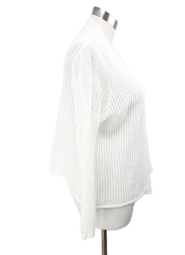 Tahari White Linen Sweater 2