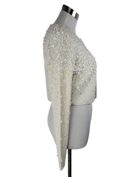 Tahari Ivory Wool Pearl Beaded Sweater 2