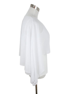 Tahari White Cotton Sheer Overlay Top 2