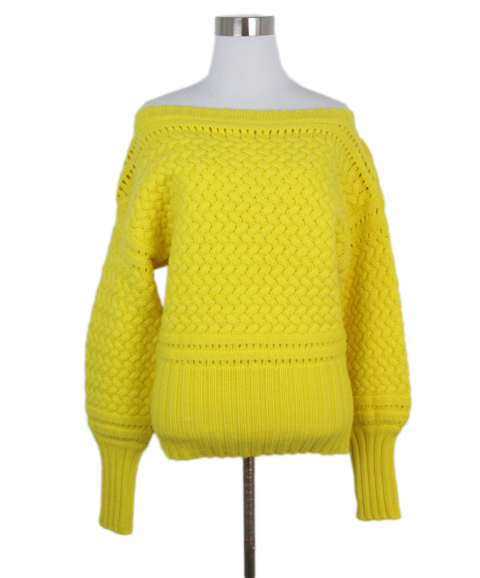 e28029f8608b Size 4 Yellow Wool Sweater - Michael s Consignment NYC