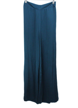 Safiyaa Teal Silk Pants 1